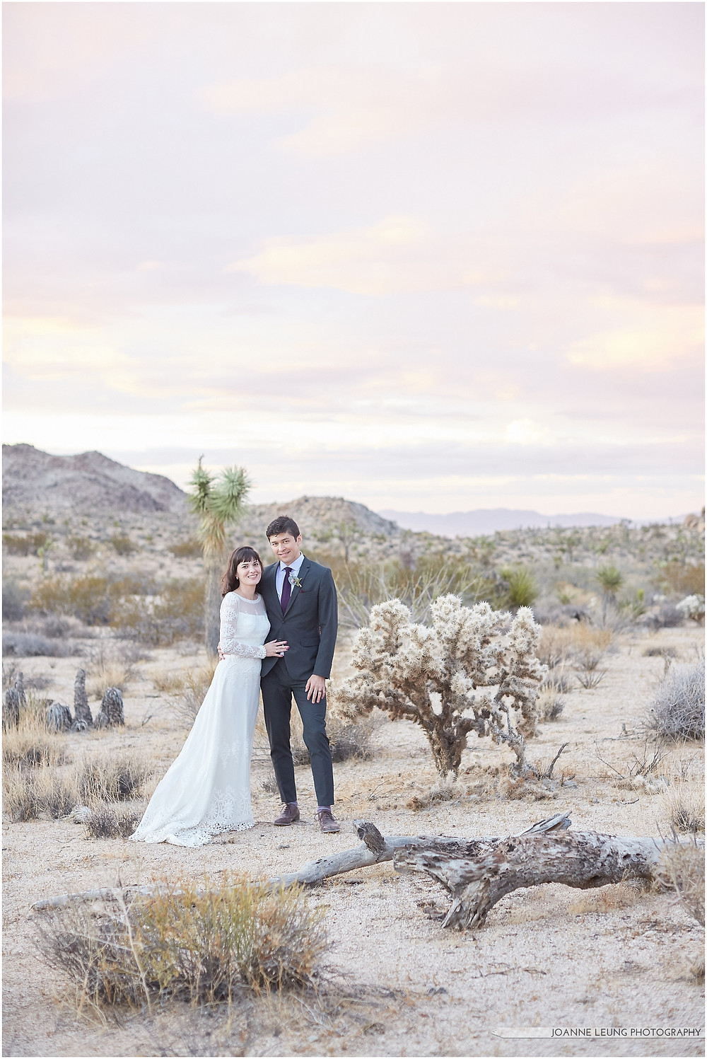 Joshua Tree Live Oak Wedding Fine Art Southern California Wedding Photographer sunset