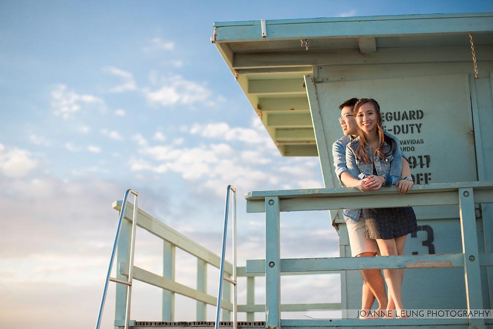 lifeguard tower wedding photographer