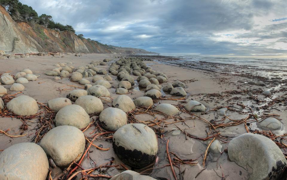 Bowling Ball Beach at Dusk