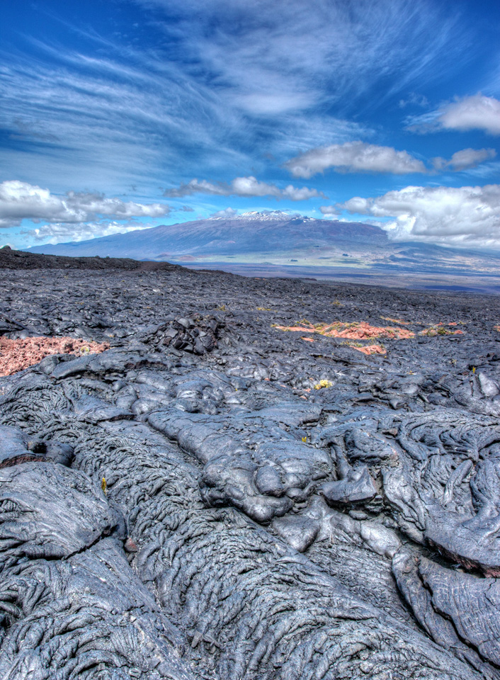 Mauna Kea with Lava in Foreground