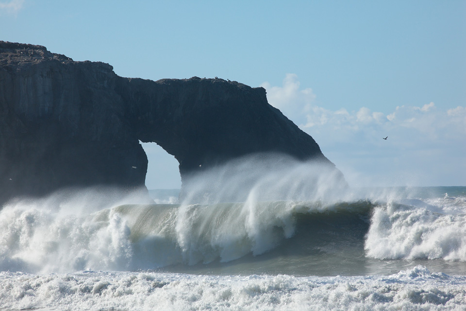 Breaking Wave at Arched Rock