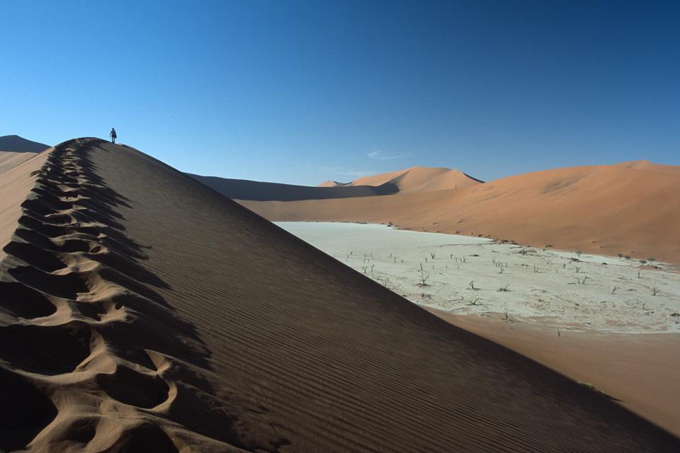 Overlooking Deadvlei from Red Dune