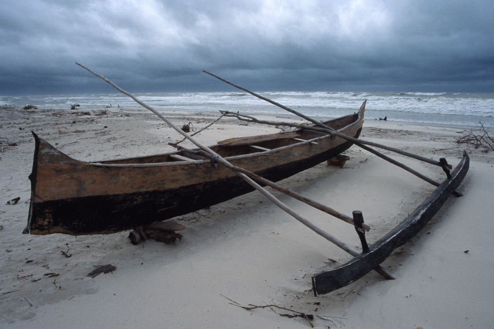 Traditional Boat with Storm