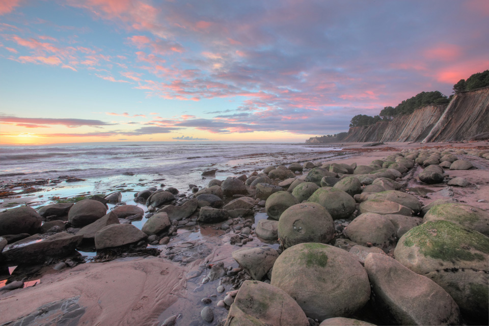 Bowling Ball Beach at Sunset