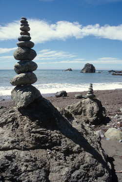 Rock Cairns near Shell Beach