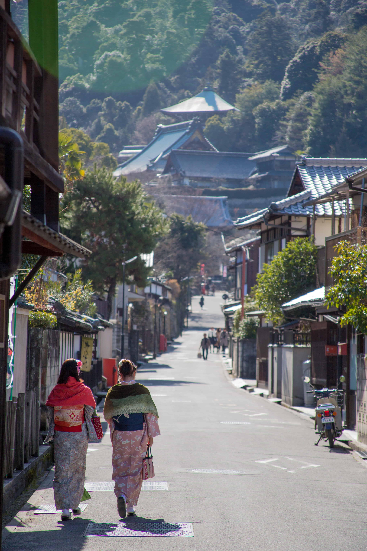 Road to Temple in Miyajima Island