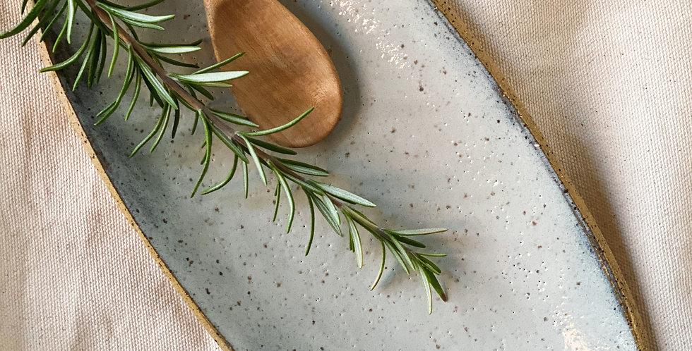 Oblong Platter in buckwheat