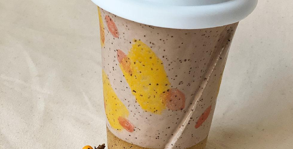 ambler mug in peach/turmeric/melon
