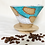 Thumbnail: large coffee Cone in white with turquoise
