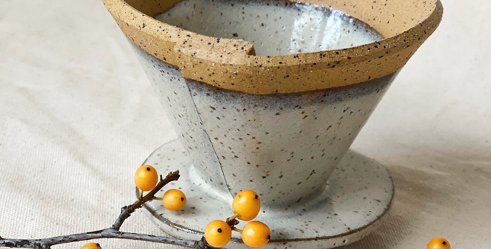pour over cone in buckwheat