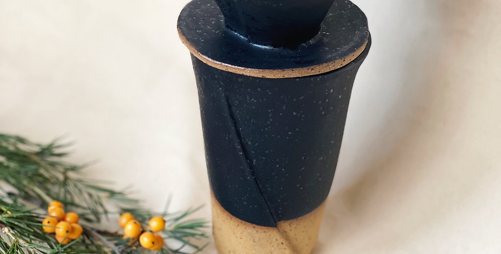 ambler mug + pour over cone set in black satin