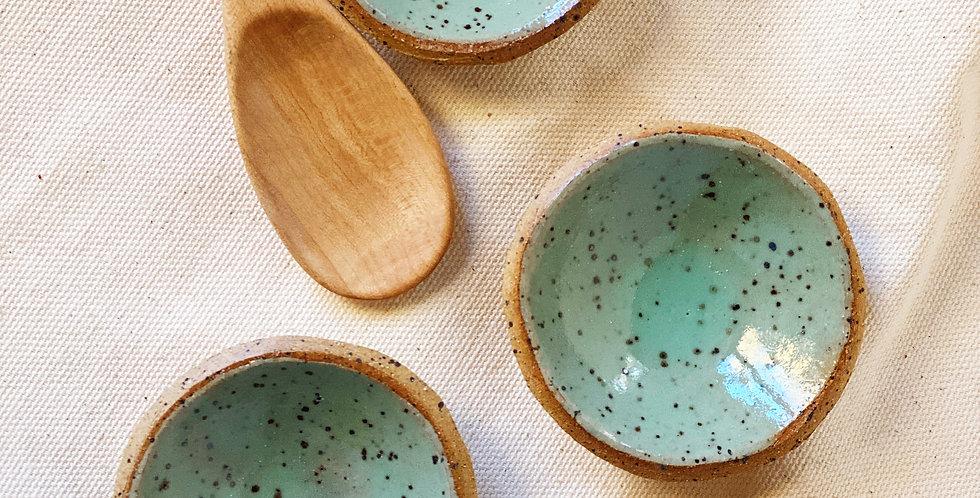 tiny bowl set in jadeite