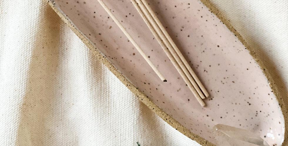 incense / smudge dish in peach