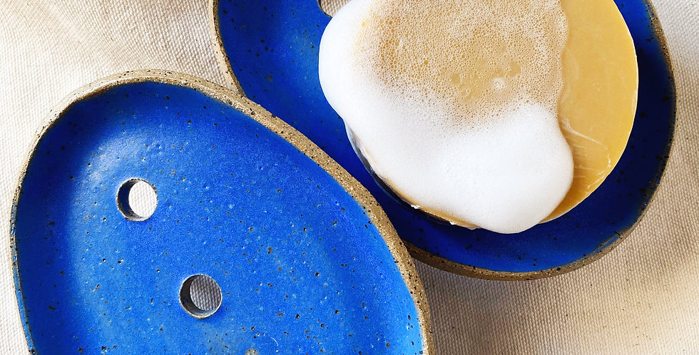Soap Dish in blue jean