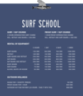 Surf School Prices