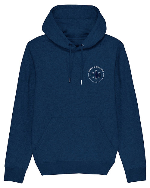 Hoodie - meleret blå
