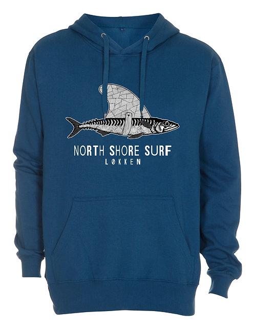 Hoodie - NSS haj - petroleumsblå