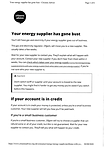 Your energy supplier has gone bust infor
