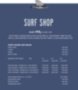 Surf Shop Prices