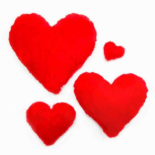 Heart Plush Dog Toy