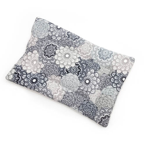 Grey Medallion Printed Fleece Fabric - Quilted Crate Pad