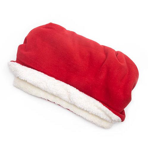 Red Fleece Fabric Pocket Bed