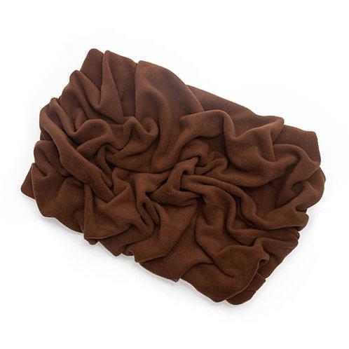 Brown Fleece Blanket Bed