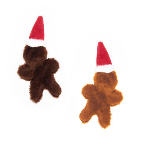 Gingerbread Man Stuffing-less Plush Dog Toy