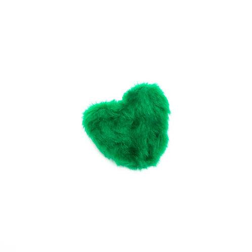 Green Heart Plush Dog Toy