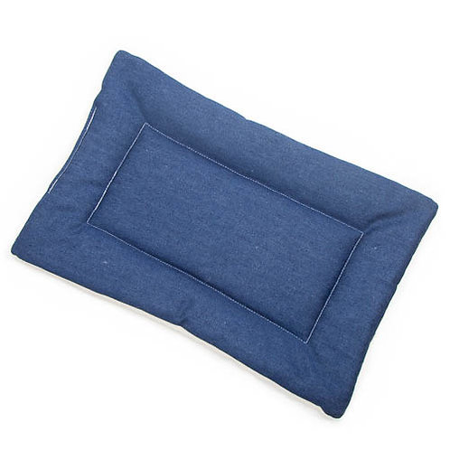 Blue Denim Fabric - Quilted Crate Pad