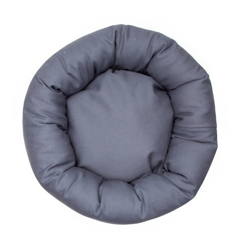 Charcoal Gray Denim Round Bed