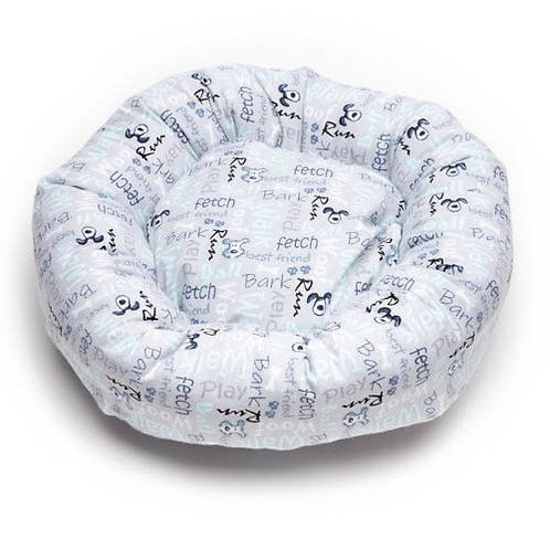 Poochie Words Cotton Round Bed