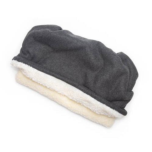 Charcoal Grey Fleece Fabric Pocket Bed