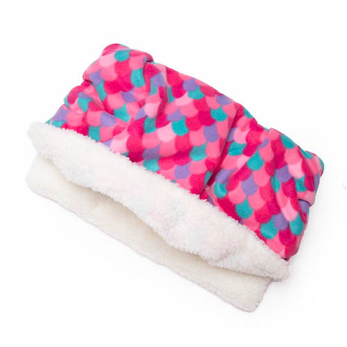 Pink Mermaid Fleece Fabric Pocket Bed