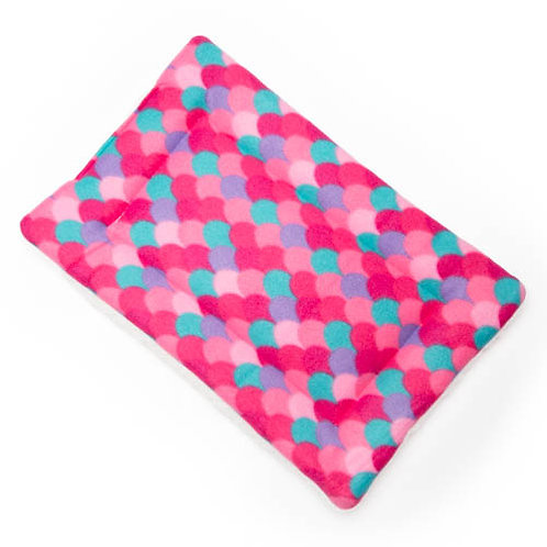 Pink Mermaid Fleece Fabric - Quilted Crate Pad