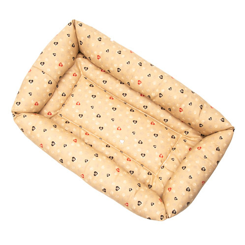Caramel Paws in Hearts Cotton Bumper Bed