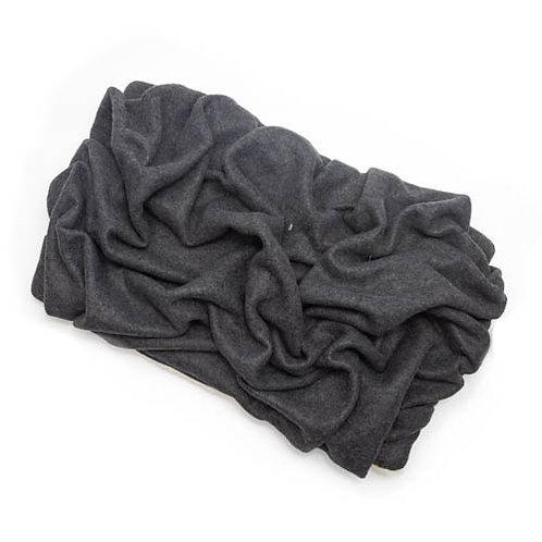 Charcoal Gray Fleece Blanket Bed