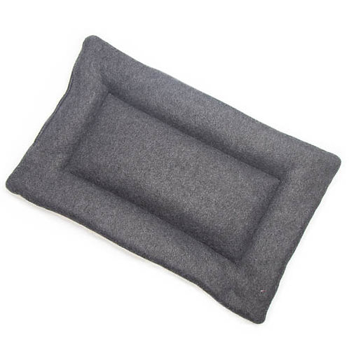 Charcoal Gray Fleece Fabric - Quilted Crate Pad