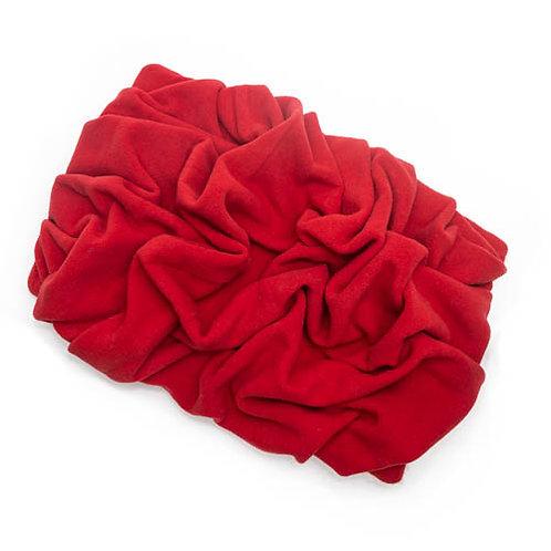 Red Fleece Blanket Bed