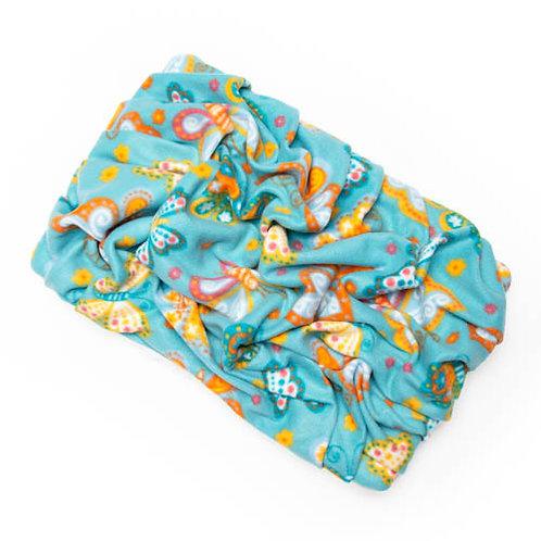 Butterflies on Teal Fleece Blanket Bed