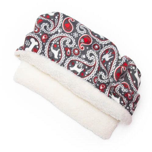 Paisley Dog Fleece Fabric Pocket Bed