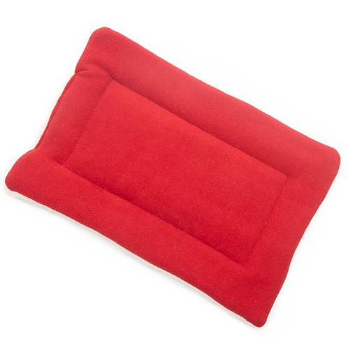 Red Fleece Fabric - Quilted Crate Pad