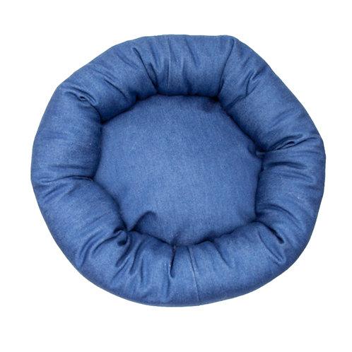 Blue Denim Round Bed