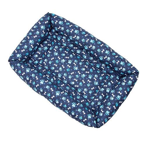 Blue Paws Cotton Bumper Bed