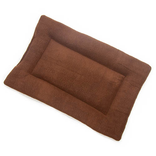 Brown Fleece Fabric - Quilted Crate Pad
