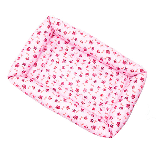 Pink Paws Cotton Bumper Bed