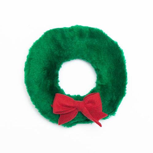 Wreath Plush Dog Toy