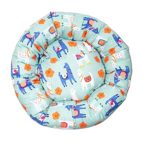 Llamas Flannel Cotton Round Bed