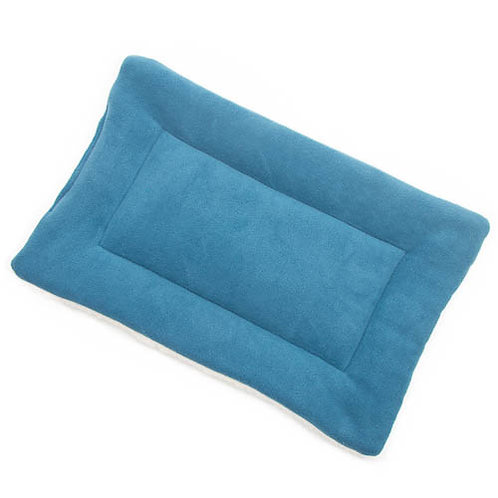 Larkspur Blue Fleece Fabric - Quilted Crate Pad
