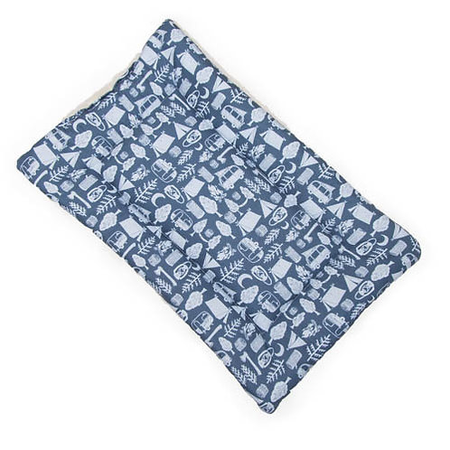 Camping Printed Cotton Fabric - Quilted Crate Pad